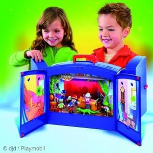 Das Playmobil Kaspertheater ist das ideal Spielzeug zum Mitnehmen