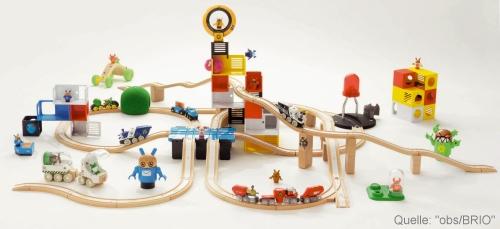 Ein Klassiker unter den Spielwaren ist die Holzeisenbahn von Brio.