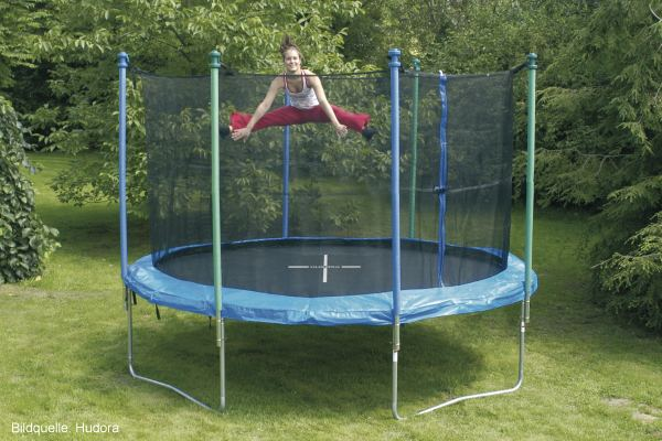 Hüpfvergnügen im Garten - Kindertrampolin
