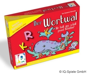Der Wortwal ist ein Lernspiel für Kinder und Erwachsene.