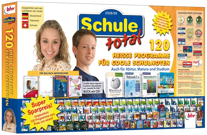 Lernsoftware Schule total  2008/2009